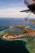 Flying into Labuan Bajo, Flores.