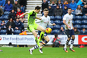 Preston North End Midfielder Paul Gallagher battles during the Sky Bet Championship match between Preston North End and Huddersfield Town at Deepdale, Preston, England on 6 February 2016. Photo by Pete Burns.