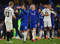 Football - 2018 / 2019 UEFA Europa League - Semi-Final, Second Leg: Chelsea (1) vs. Eintracht Frankfurt (1)<br /> <br /> Chelsea's Eden Hazard shakes hands with Eintracht Frankfurt's Martin Hinteregger after their 4-3 penalty shoot out victory after the scores finished 1-1 after extra time, at Stamford Bridge.<br /> <br /> COLORSPORT/ASHLEY WESTERN
