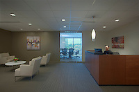 Architectural Interior of reception area of Park View office building in Columbia MD