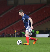 23rd March 2018, Hampden Park, Glasgow, Scotland; International Football Friendly, Scotland versus Costa Rica; Jamie Murphy made his Scotland debut as a second half substitute