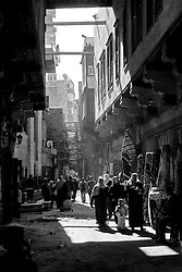 Sidestreet in Cairo's Islamic quarter, Cairo, Egypt (January 2008)