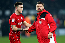 Matty Taylor of Bristol City and Josh Brownhill of Bristol City - Mandatory by-line: Robbie Stephenson/JMP - 11/02/2017 - FOOTBALL - iPro Stadium - Derby, England - Derby County v Bristol City - Sky Bet Championship