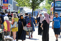 © Licensed to London News Pictures. 01/06/2020. London, UK. Shoppers on High Road in Wood Green, north London not observing social distancing as lockdown restrictions are eased in England after ten weeks of the COVID-19 lockdown. Photo credit: Dinendra Haria/LNP