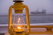 American Eagle lantern and fishing boat