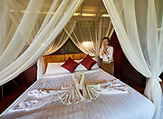 Laos. Luang Say Cruise on the Mekong. Luang Say Lodge. A bungalow.