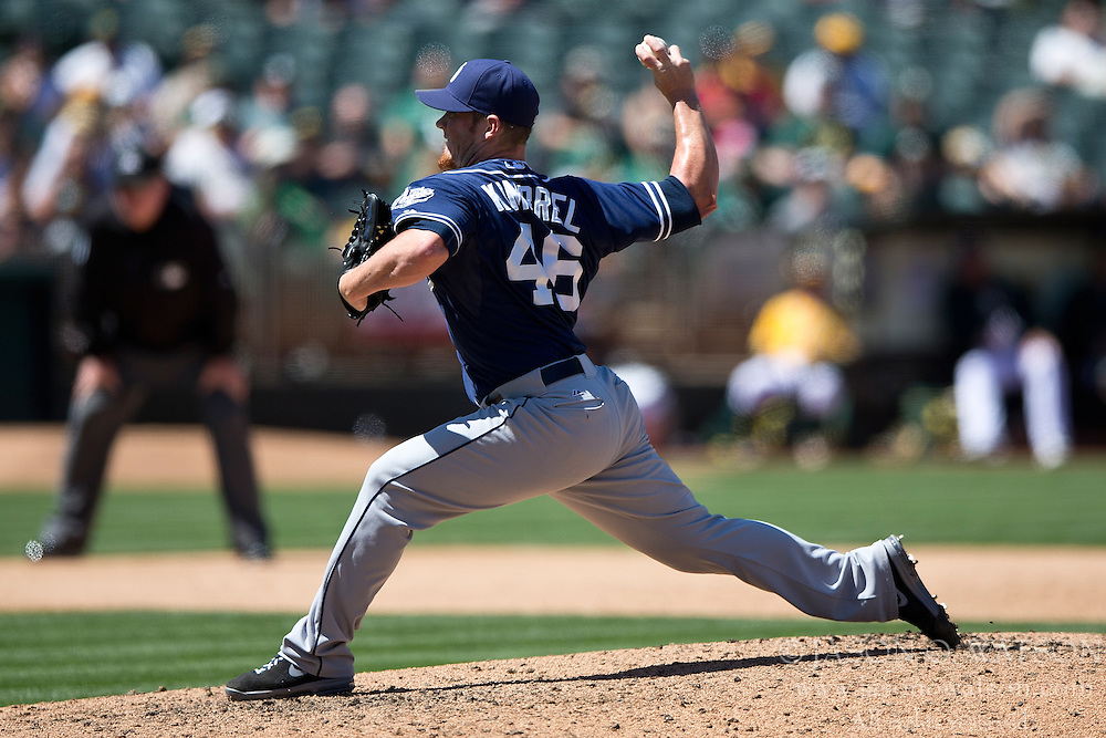 OAKLAND, CA - JUNE 18:  Craig Kimbrel #46 of the San Diego Padres pitches against the Oakland Athletics during the ninth inning at O.co Coliseum on June 18, 2015 in Oakland, California. The San Diego Padres defeated the Oakland Athletics 3-1. (Photo by Jason O. Watson/Getty Images) *** Local Caption *** Craig Kimbrel