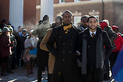 Alpha Phi Alpha Fraternity hosts the Martin Luther King Jr. Silent March and Brunch on Jan. 21, 2019. Photo by Hannah Ruhoff