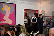 Party at the home of Amanda Eliasch in Chelsea after the opening of As I Like it. A memory by Amanda Eliasch and Lyall Watson. Chelsea Theatre. Worl's End. London. 4 July 2010<br /> <br />  , -DO NOT ARCHIVE-© Copyright Photograph by Dafydd Jones. 248 Clapham Rd. London SW9 0PZ. Tel 0207 820 0771. www.dafjones.com.