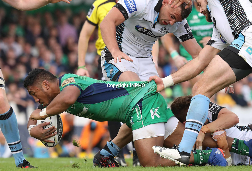 Guinness PRO12, Sportsground, Galway 3/9/2016<br /> Connacht vs Glasgow Warriors<br /> Connacht&rsquo;s Bundee Aki<br /> Mandatory Credit &copy;INPHO/Billy Stickland