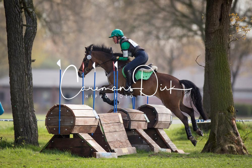 Berkvens Shelsy, (BEL), Misty vd Goudveerdegem<br /> Nationale Finale AVEVE Eventing Cup voor Pony's<br /> Minderhout 2016<br /> &copy; Dirk Caremans