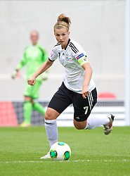 LLANELLI, WALES - Wednesday, August 28, 2013: Germany's Annabel Jager in action against France during the Semi-Final match of the UEFA Women's Under-19 Championship Wales 2013 tournament at Parc y Scarlets. (Pic by David Rawcliffe/Propaganda)