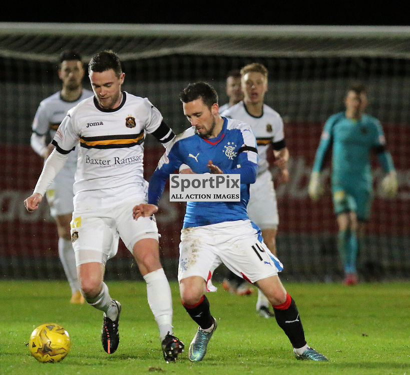 Grant Gallagher on the ball during the Dumbarton v Rangers  Scottish Championship  02 January 2016<br /> <br /> (c) Andy Scott | SportPix.org.uk