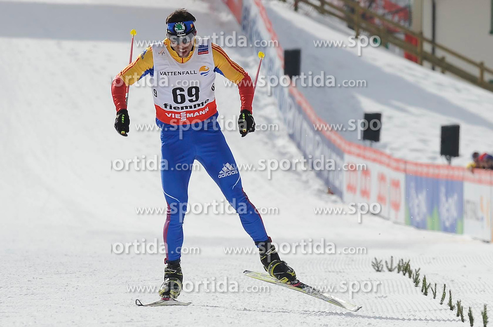 20.02.2013, Langlaufstadion, Lago di Tesero, ITA, FIS Weltmeisterschaften Ski Nordisch, Langlauf Herren, Qualifikation 10 km, im Bild Palici Viorel Andrei (ROU) // Palici Viorel Andrei of Romania during the Mens 10 km Cross Country Qualification of the FIS Nordic Ski World Championships 2013 at the Cross Country Stadium, Lago di Tesero, Italy on 2013/02/20. EXPA Pictures © 2013, PhotoCredit: EXPA/ Federico Modica