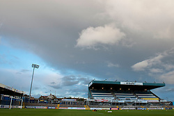 Storm clouds gather over the Dribuild Stand at the Memorial Stadium before Bristol Rovers play Wycombe Wanderers in the Johnstone Paint Trophy  - Mandatory byline: Dougie Allward/JMP - 07966 386802 - 06/10/2015 - FOOTBALL - Memorial Stadium - Bristol, England - Bristol Rovers v Wycombe Wanderers - JPT Trophy