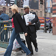 New York. Harlem. street life on 125 street in Harlem  New York - United states  / scenes de rue a Harlem sur la 125 em rue  New York - Etats-unis