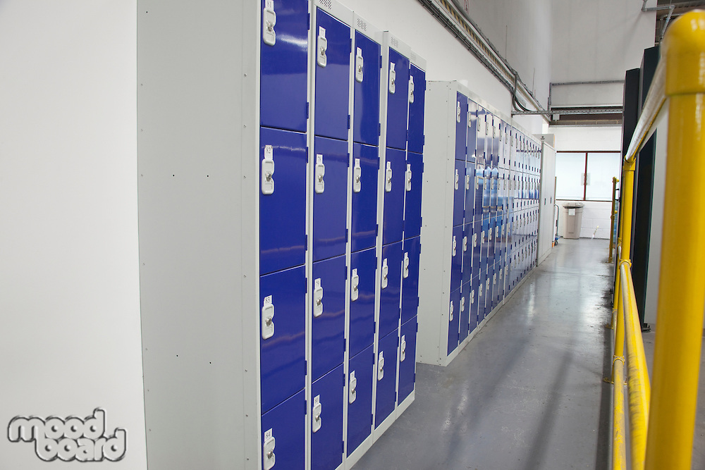 Factory locker room