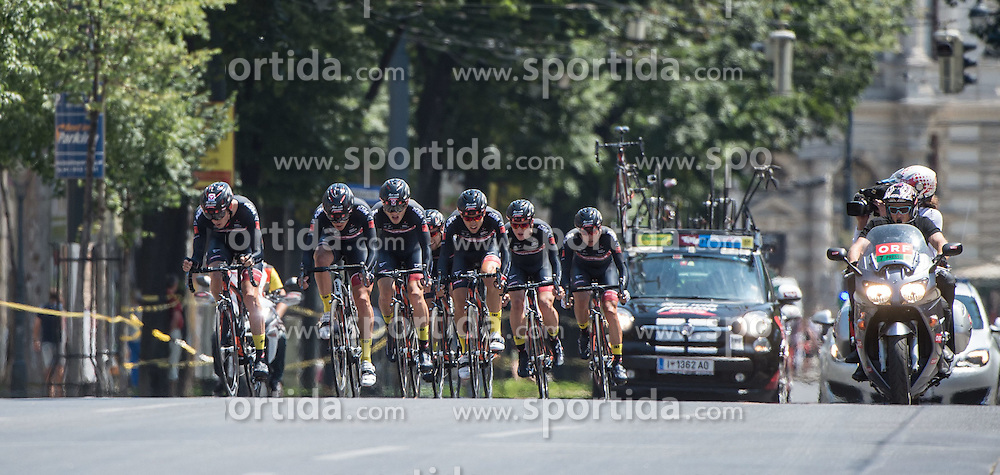 04.07.2015, Wien, AUT, Österreich Radrundfahrt, Mannschaftszeitfahren, im Bild Tirol Cycling Team (AUT) // Tirol Cycling Team of Austria during the Tour of Austria, Team Time Trial, in Wien, Austria on 2015/07/04. EXPA Pictures © 2015, PhotoCredit: EXPA/ Reinhard Eisenbauer
