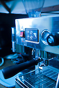 Espresso coffee machine closeup