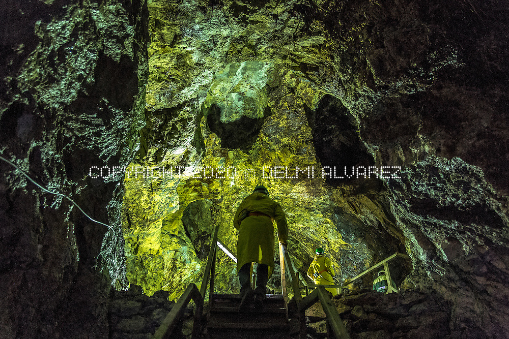 Roman galleries in the mine of company Rosia Montana Gold Corporation (RMGC) that will be a museum for tourists in 2015. The mine is the biggest one in Europe for the reserves of gold that already have.