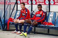 03-09-2015 VOETBAL:WILLEM II- KAA GENT:TILBURG<br /> Willem II Vriendschappelijke wedstrijd zonder publiek tegen KAA Gent<br /> <br /> Jordy Vleugels van Willem II (L) en Asumah Abubakar van Willem II (R)<br /> <br /> <br /> Foto: Geert van Erven