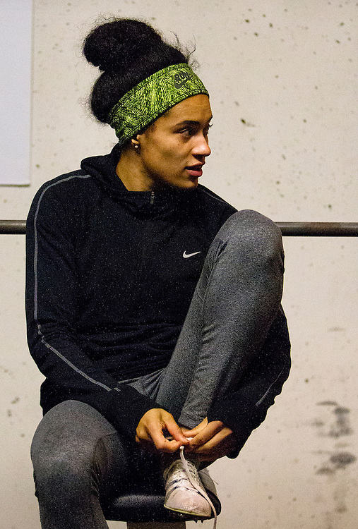 Rachel Francois trains at the Pacific Institute for Sport Excellence on December 3rd, 2015 in Victoria, British Columbia Canada.