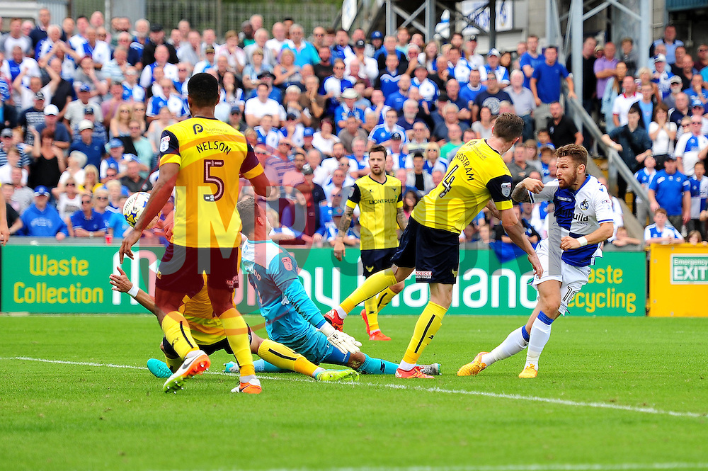 Matt Taylor of Bristol Rovers scores to make it 2-1 - Mandatory by-line: Dougie Allward/JMP - 14/08/2016 - FOOTBALL - Memorial Stadium - Bristol, England - Bristol Rovers v Oxford United - Sky Bet League One