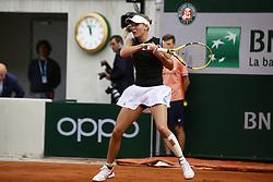 May 27, 2019 - Paris, France - Caroline Wozniacki during the match between .Caroline Wozniacki and Veronika Kudermetova at 2019 Roland Garros, in Paris, France, on May 27, 2019. (Credit Image: © Ibrahim Ezzat/NurPhoto via ZUMA Press)