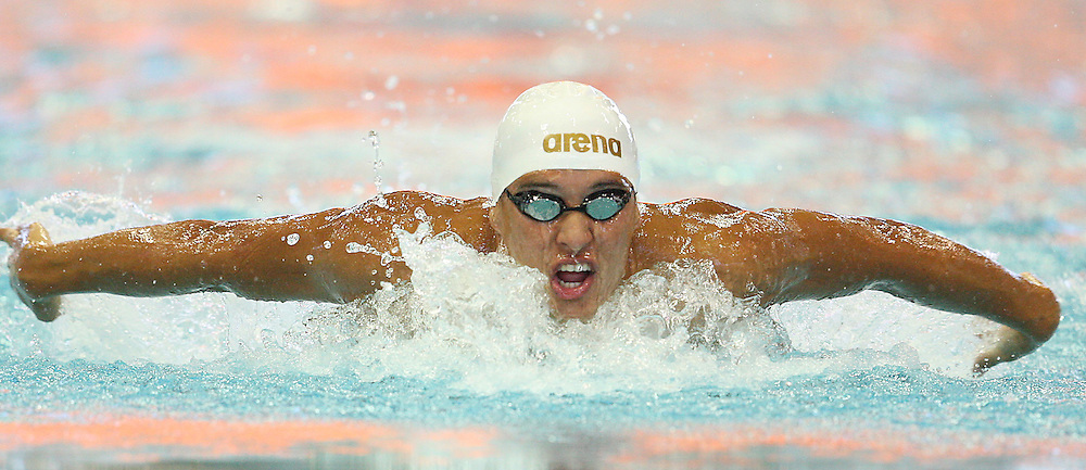 DURBAN, SOUTH AFRICA SA. Chad Le Clos during the International Invitational Swimming Meet, Durban 28th &amp; 29th January 2012,Kings Park Aquatic Centre  <br /> Photo by Steve Haag <br /> ALL IMAGES ARE COPYRIGHT STEVE HAAG