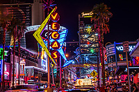 Fremont East Entertainment District (FEED) @ Night