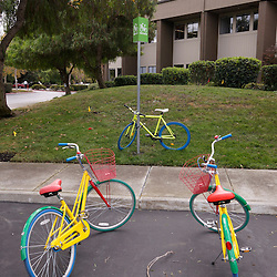 Dedicated Google Bike Spot in front of Silicon Valley Building