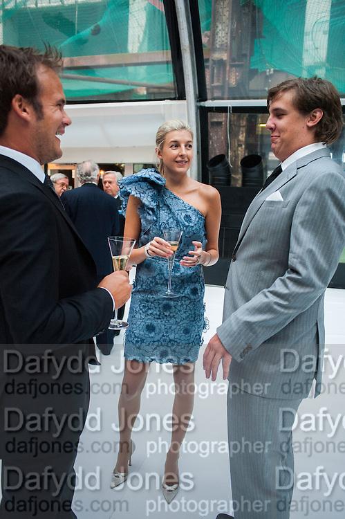 FRANCESCA CIARDI; CAROLINE RUPERT; ANTOINE RUPERT, CARTIER CHELSEA FLOWER SHOW DINNER Dinner hosted by Cartier in celebration of the Chelsea Flower Show was held at Battersea Power Station. 22 May 2012
