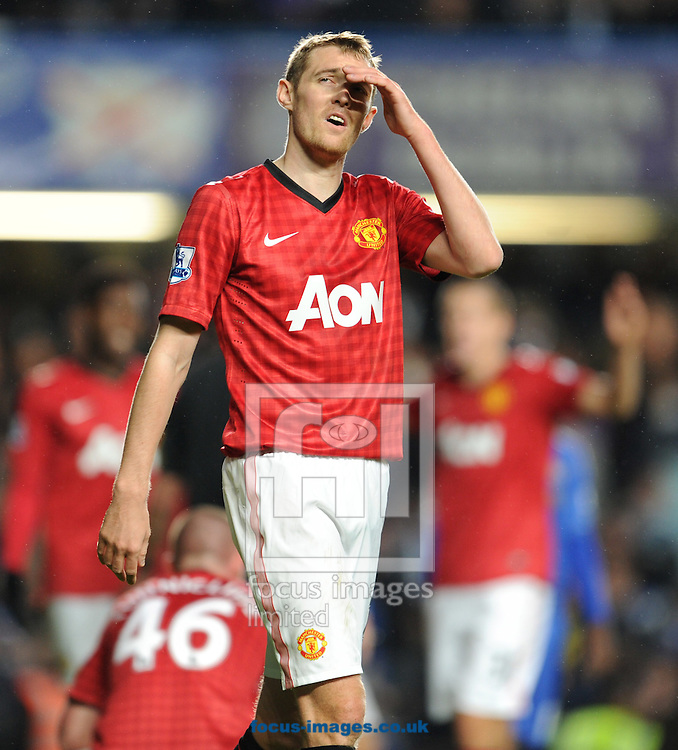 Picture by Andrew Timms/Focus Images Ltd +44 7917 236526.31/10/2012.Darren Fletcher of Manchester United during the Capital One Cup match against Chelsea at Stamford Bridge, London.