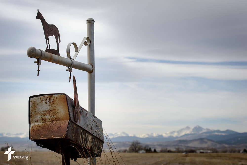A rustic mailbox on Thursday, March 3, 2016, near Loveland, Colo. LCMS Communications/Erik M. Lunsford
