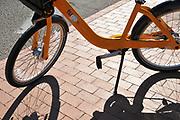 Tugo Bike Share bicycle at Rio Nuevo Station installation.