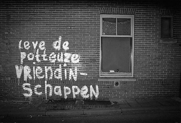 Nederland, Nijmegen, 16-8-1984Leuzen ten gunste van lesbische vrouwen.Foto: Flip Franssen/Hollandse Hoogte