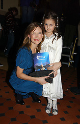 News reader KATIE DERHAM and her daughter NATASHA at the opening night of Cirque Du Soleil's 'Alegria' held at the Royal Albert, London on 5th January 2007.<br /><br />NON EXCLUSIVE - WORLD RIGHTS