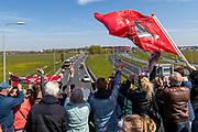 ROTTERDAM - 30-04-2017, AZ - Vitesse, finale KNVB beker, Stadion De Kuip, supporters, bus