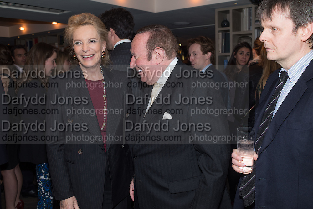 PRINCESS MICHAEL OF KENT; ANDREW NEIL, Spectator Life - 3rd birthday party. Belgraves Hotel, 20 Chesham Place, London, SW1X 8HQ, 31 March 2015