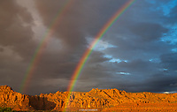 DOUBLE RAINBOW- RED CLIFFS DESERT RESERVE, IVINS, ST. GEORGE, UTAH- SNOW CANYON SNOW CANYON STATE PARK- IVINS- ST. GEORGE, UTAH