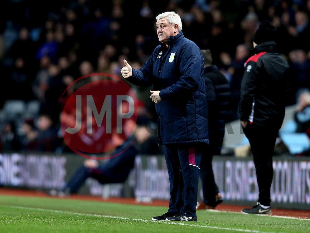 Aston Villa manager Steve Bruce gives a thumbs up - Mandatory by-line: Robbie Stephenson/JMP - 28/02/2017 - FOOTBALL - Villa Park - Birmingham, England - Aston Villa v Bristol City - Sky Bet Championship