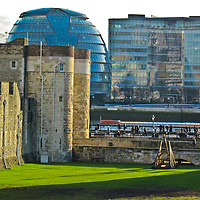 The Tower of London against the modern approach of London Town