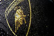June 25 - 27, 2015: Lamborghini Super Trofeo Round 3-4, Watkins Glen NY. Lamborghini logo with rain drops