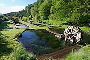 Parkhotel Tristacher See, Tyrol, Austria. Fish ponds.