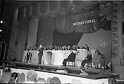 18/05/1962<br /> 05/18/1962<br /> 18 May 1962<br /> Presentation of Variety Club Awards at their International Convention in the Theatre Royal, Dublin. Mr Frank Duff, founder of the Legion of Mary, speaking at the event.