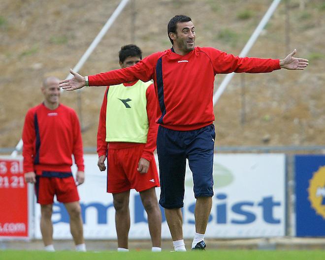 24/09/08 ENTRENAMIENTO DEL GIRONA F.C. RAUL AGNE ENTRENADOR.