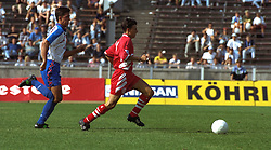 BERLIN, GERMANY - Sunday, August 7, 1994: Liverpool's Lee Jones during a preseason friendly between Hertha BSC Berlin and Liverpool FC at the Olympiastadion. Liverpool won 3-0. (Pic by David Rawcliffe/Propaganda)