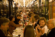 DINING TABLE DOWN BURLINGTON ARCADE, Henry Moore Exhibition. Hauser and Wirth. 15 Old Bond St. and afterwards dinner at the Burlington arcade. 14 October 2008 *** Local Caption *** -DO NOT ARCHIVE -Copyright Photograph by Dafydd Jones. 248 Clapham Rd. London SW9 0PZ. Tel 0207 820 0771. www.dafjones.com