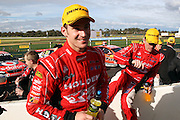 Will Davison and Holden Racing Team mate Garth Tander after the Norton 360 Sandown Challenge held at the Sandown International Motor Raceway, Victoria on Sunday 2nd August. 2009 V8 Supercar Series Rounds 13 and 14. Photo © Clay Cross/PHOTOSPORT