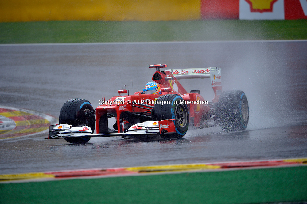 Fernando ALONSO, Spain - FERRARI <br /> FRANCORCHAMPS, GP Formula 1 in Belgium, Formel 1 Grand Prix von Belgien 31.08. 2012 - Rennen in den Ardennen  GP en Belgique -  fee liable image - Photo Credit: &copy; ATP / DAVIN
